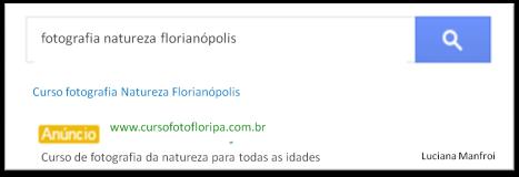Exemplo AdWords Links Patrocinados Google